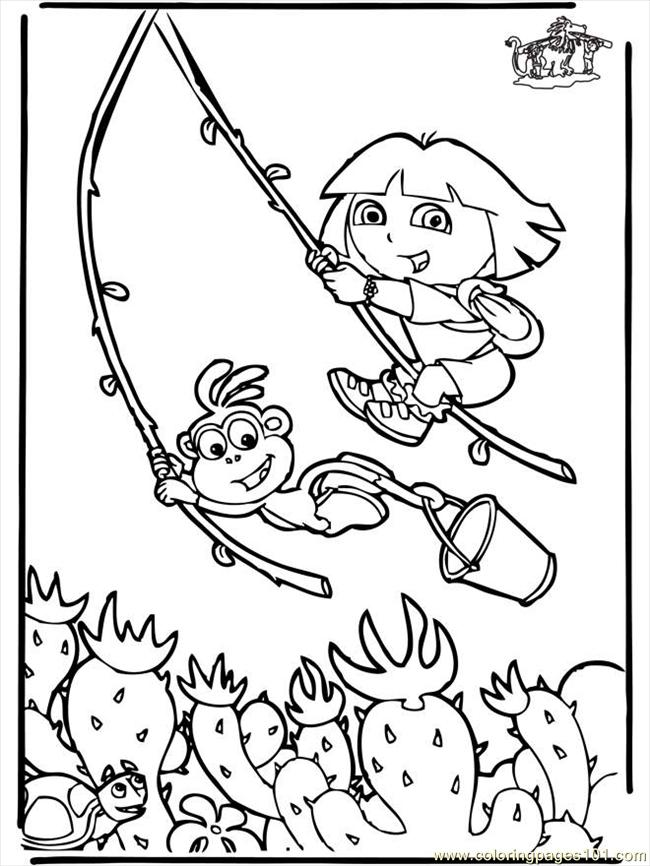 Dora The Explorer Coloring Pages Online Free