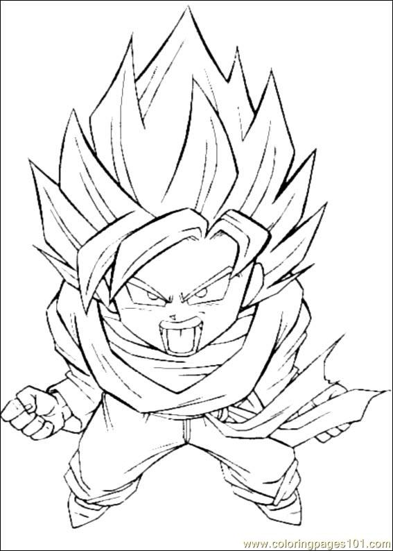 Printable Coloring Page Dragon Ball Z 01  Cartoons   Dragon Ball Z