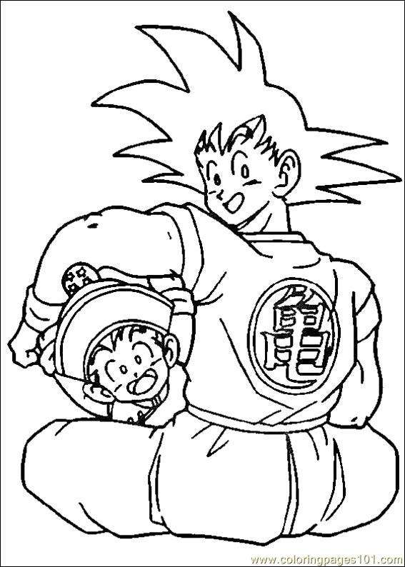 Coloring Pages Dragon Ball Z 10 Cartoons Gt Dragon Ball Z