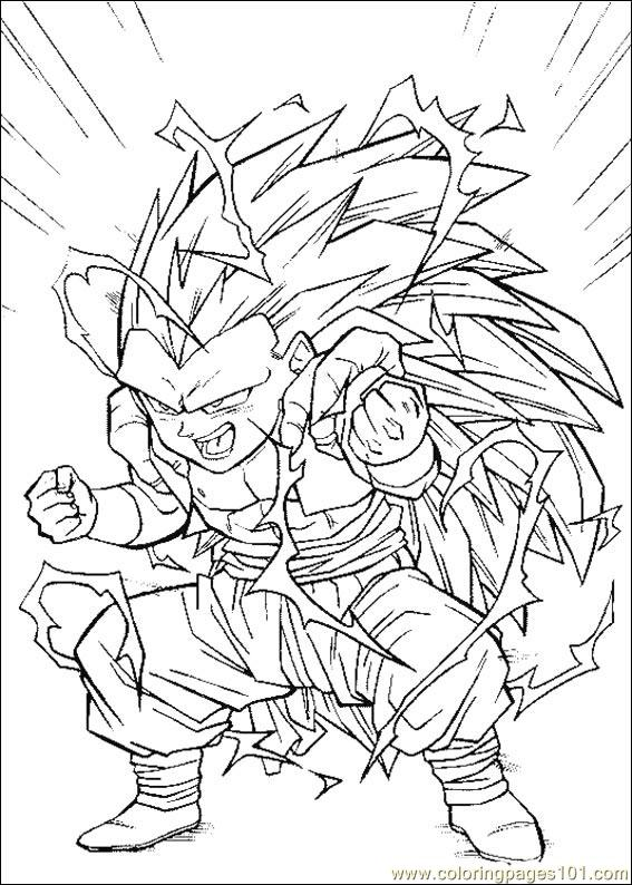 Coloring Pages Dragon Ball Z 13 Cartoons Gt Dragon Ball Z