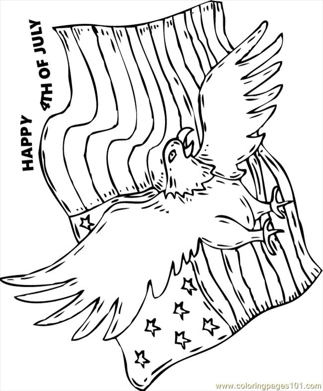 Coloring Pages Eagle Flag Source Ngn Birds Gt Eagle