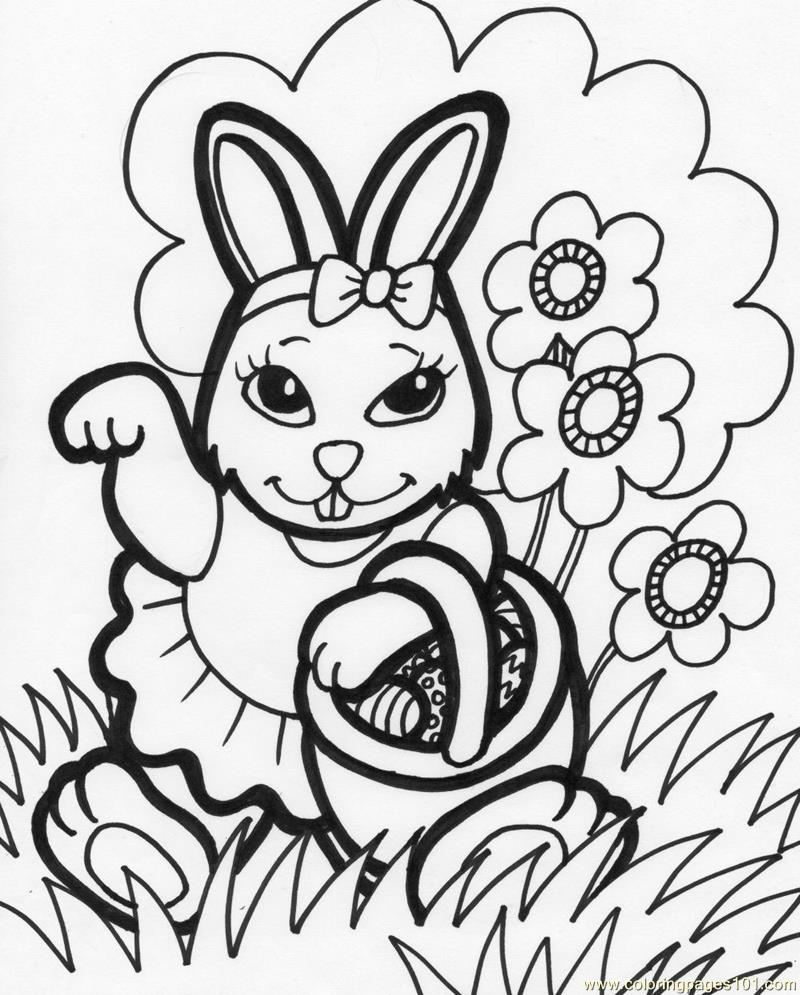 Easter Animals Coloring Pages : Coloring pages easter bunnie animals gt bunnies