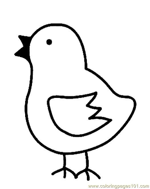 Chick free colouring pages for Chick coloring pages