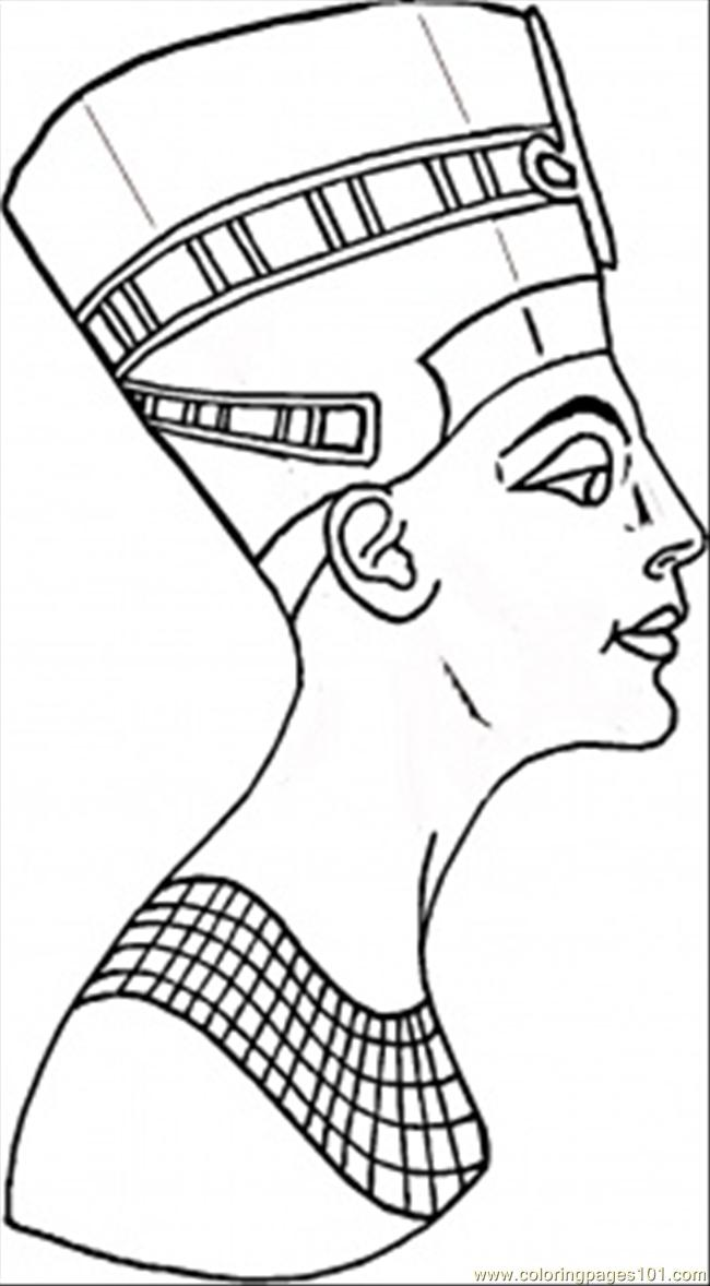 Coloring Pages Nefertiti Countries gt Egypt free