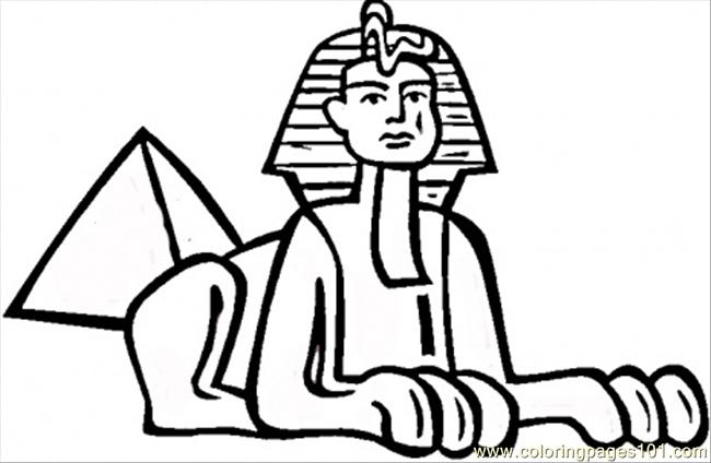 egyptian sphinx coloring pages - photo#6