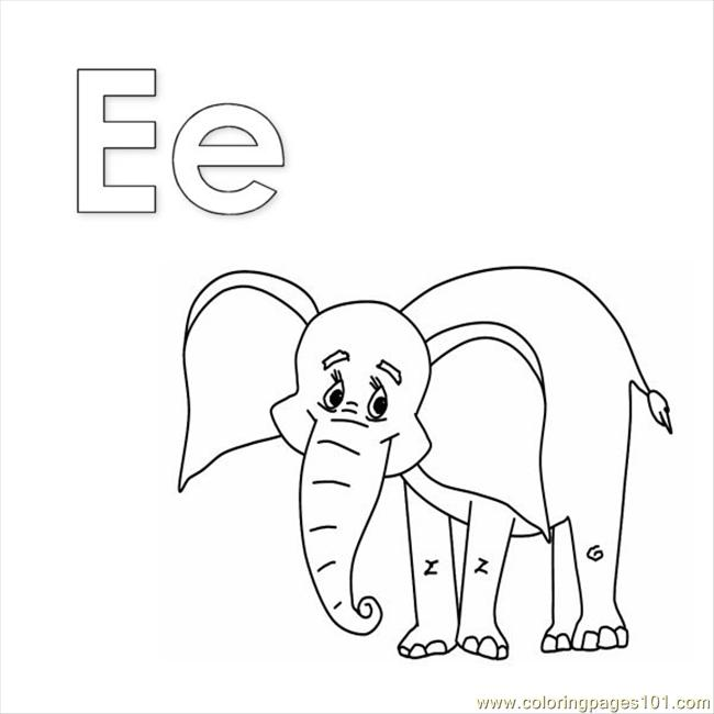 e elephant coloring pages - photo#10