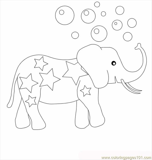 Coloring Pages Circus Elephant Mammals gt Elephant free