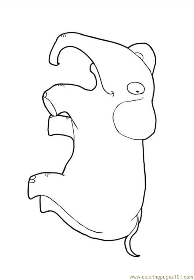 Easy Elephant Face Coloring Pages