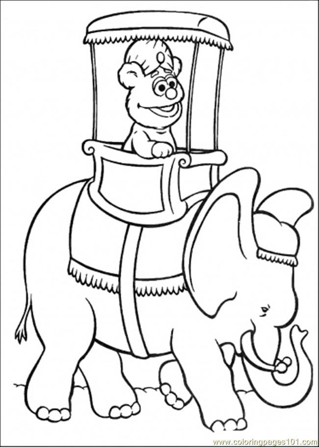 Coloring Pages Ing An Elephant