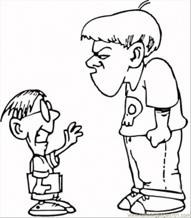 bully free zone coloring pages - photo#14