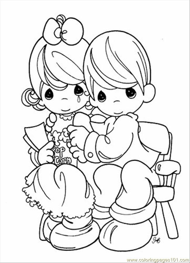 Puppy cute puppy angel for Precious moments angel coloring pages