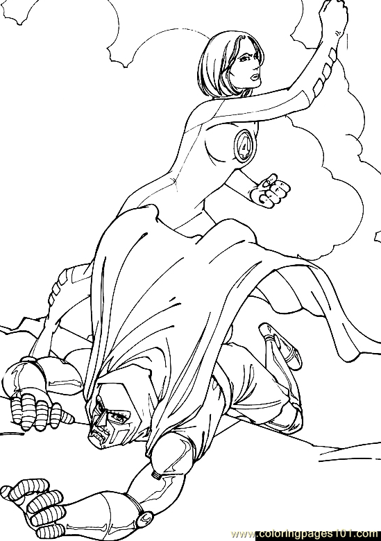 coloring pages fantastic four - photo#36