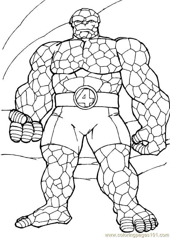 Coloring Pages Fantastic Four Coloring Page 15 Cartoons Fantastic 4 Coloring Pages