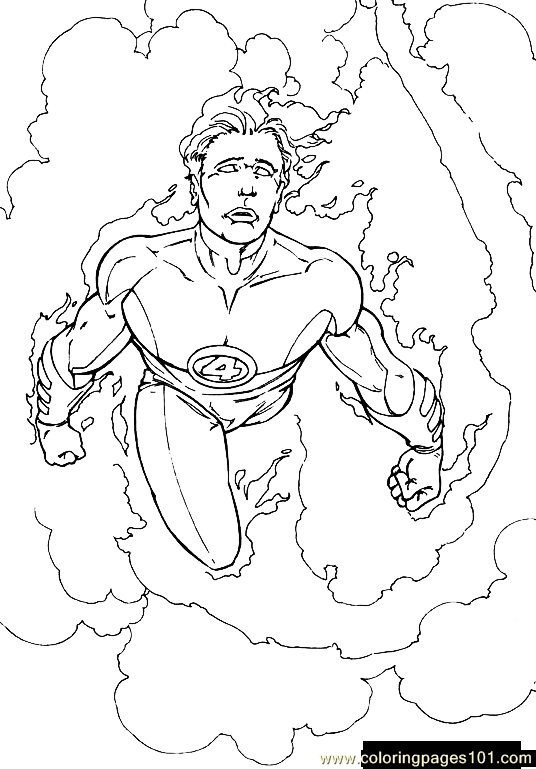 fantastic four coloring pages to print   Coloring Pages Fantastic Four.jpg (34) (Cartoons ...