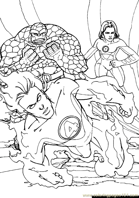 coloring pages fantastic four - photo#19