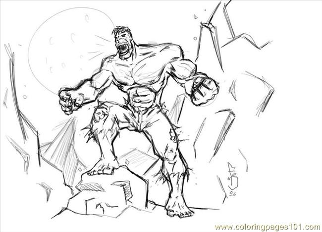 Coloring Pages Hulk Cartoons Gt Fantastic Four