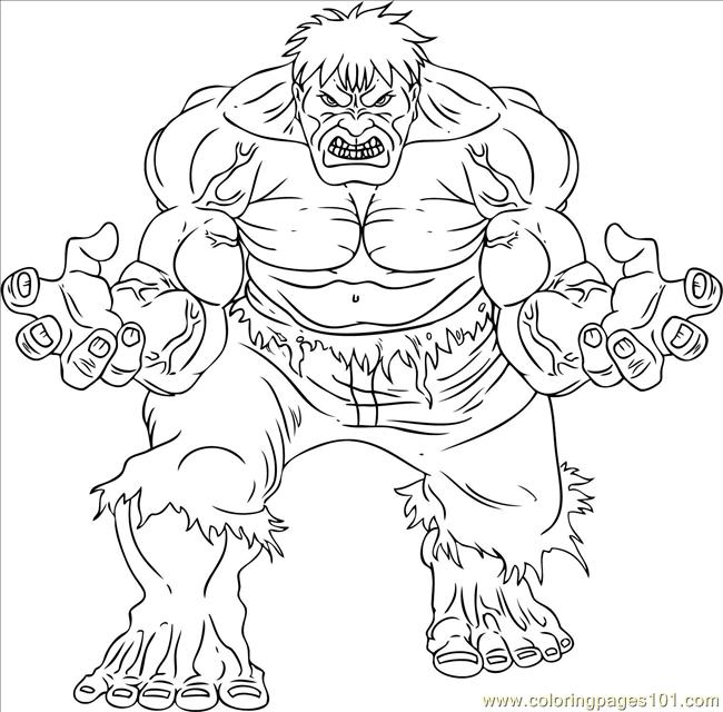 incredible hulk pintable coloring pages - photo#31