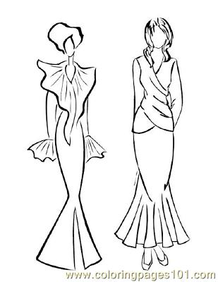 Free printable coloring page fashion126 peoples gt fashion