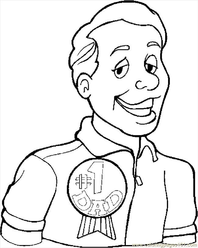 1 Dad Coloring Pages 1 dad ribbon coloring page happy father 39 s