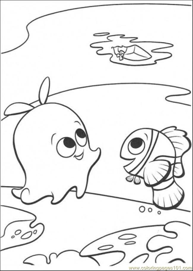 free pearl in nemo coloring pages