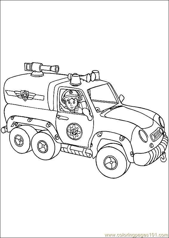 coloring pages fireman sam 03 cartoons  fireman sam