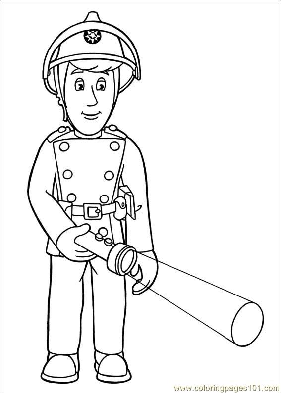 Coloring Pages Fireman Sam 10 Cartoons