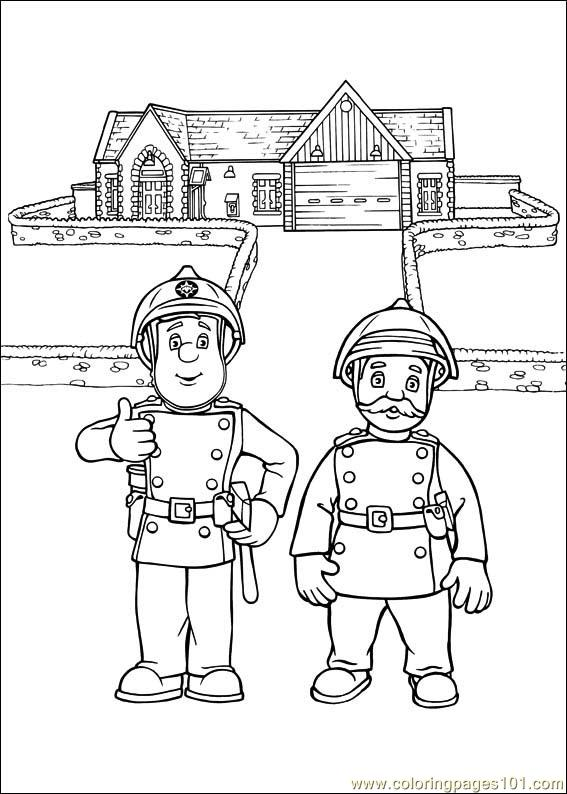 Fireman Sam Coloring Pages To Print Coloring Pages Fireman Sam Colouring Pages To Print