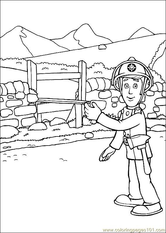 Coloring Pages Fireman Sam 21 (Cartoons > Fireman Sam ...