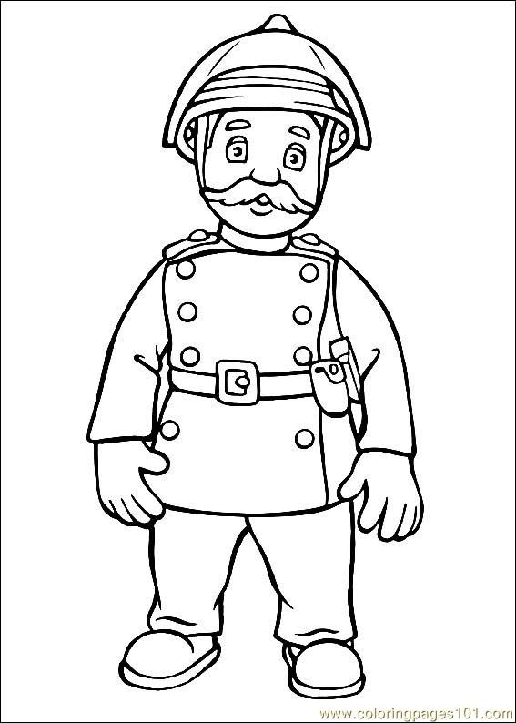 Coloring Pages Fireman Sam 22 Cartoons Gt Fireman Sam Sam Coloring Page