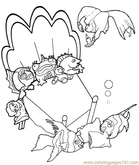 sleepover coloring pages to print   Coloring Pages Sleepover 540px (Animals > Fishes) - free ...