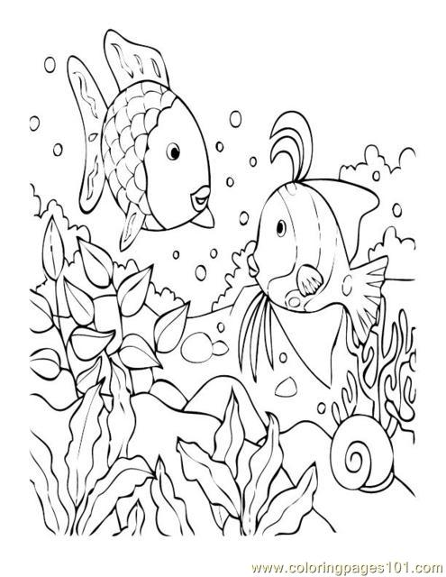 Coloring Pages Tropical Fish Coral
