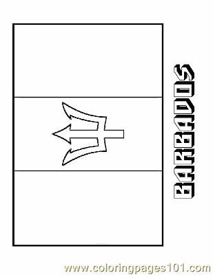 Coloring pages barbados education flags free for Barbados flag coloring page