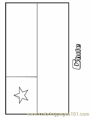 Coloring Pages Chile Education Gt Flags Free Printable Chile Flag Coloring Page