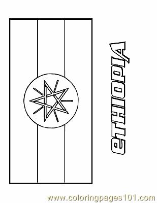Free printable coloring page ethiopia education flags for Ethiopian coloring pages