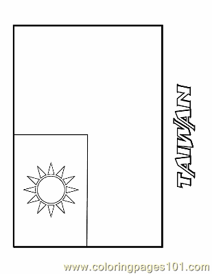 Coloring pages taiwan education flags free printable for Taiwan flag coloring page
