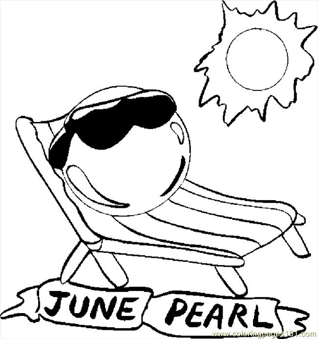 printable june coloring pages - photo#17