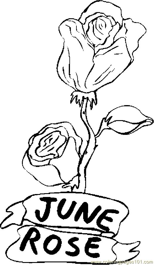 Free Coloring Pages Of Roses Flowers