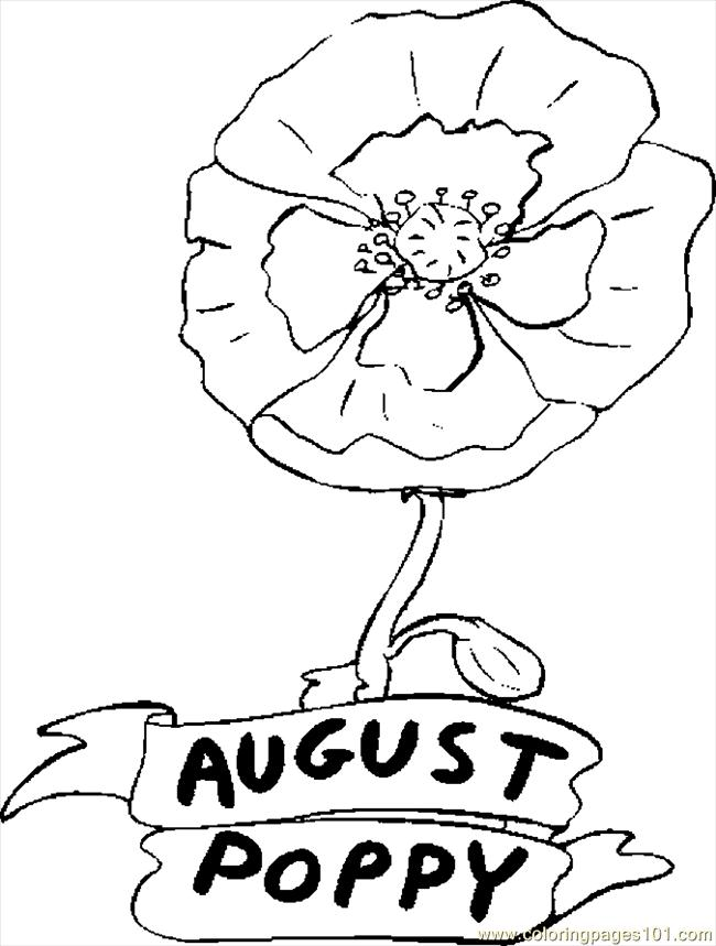 coloring pages for august - photo#6