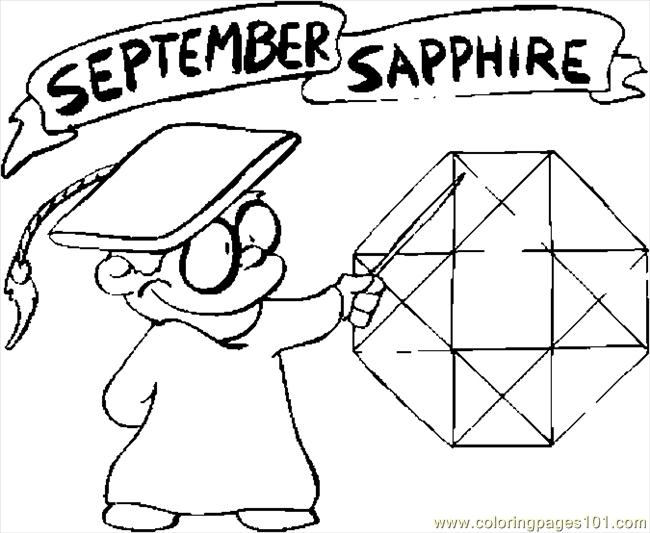 Coloring Pages 09 September Sapphire Natural World Coloring Pages For September