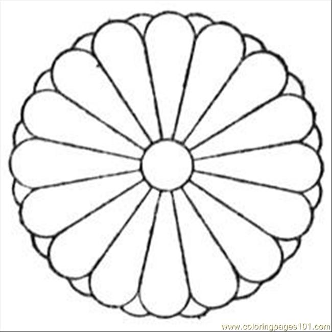 Chrysanthemum Coloring Pages and