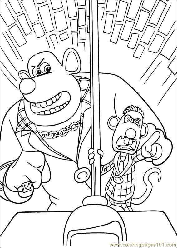 flushed away coloring pages - photo#7