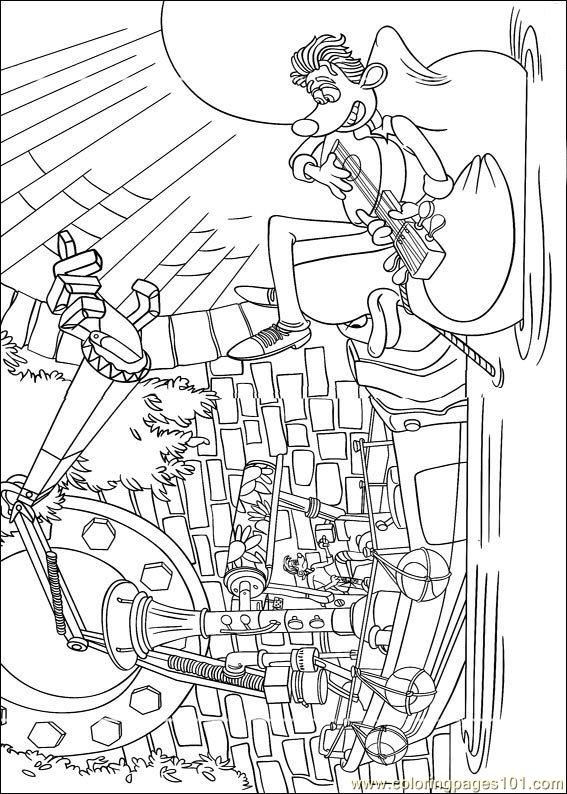flushed away coloring pages - photo#13