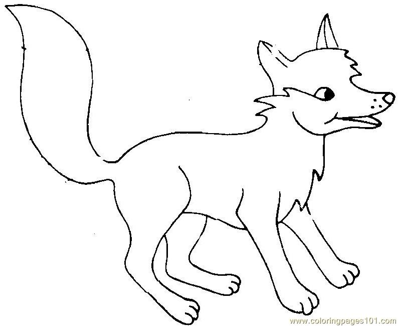 baby arctic fox coloring pages cute - photo #19