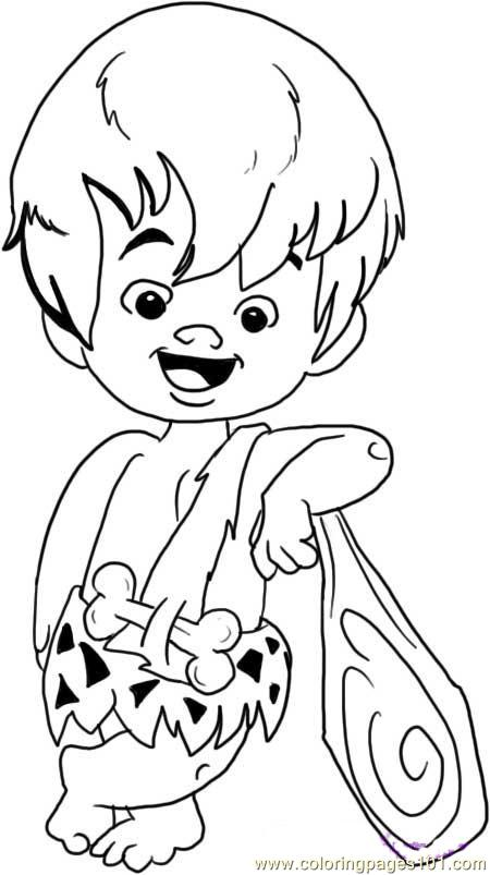 pebbles and bambam coloring pages - photo#26