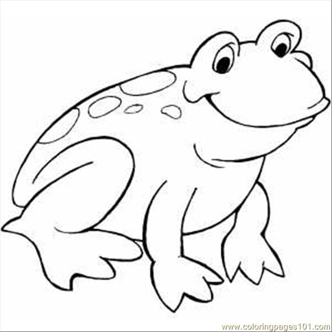coloring pages smiling frog amphibians frog free printable coloring page online