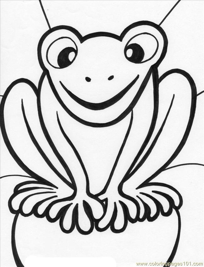 coloring pages frog4 amphibians frog free printable coloring page online