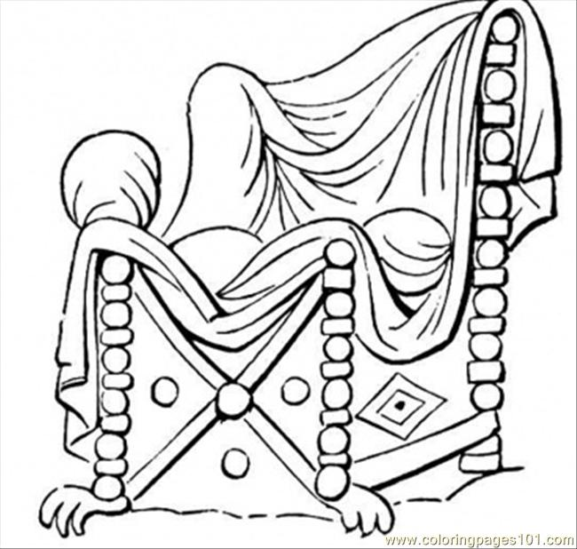 coloring pages chair with nice covering other