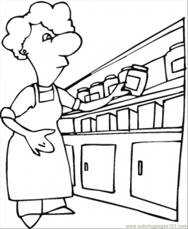 free coloring pages furniture - photo#21