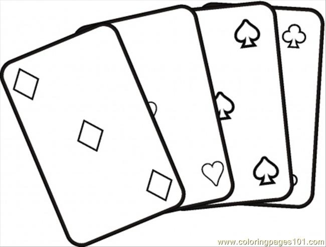 Coloring Pages 92 Playing Cards Coloring Page Card Coloring