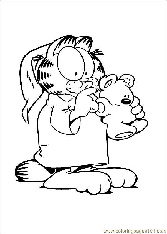 free coloring pages of garfield cartoons